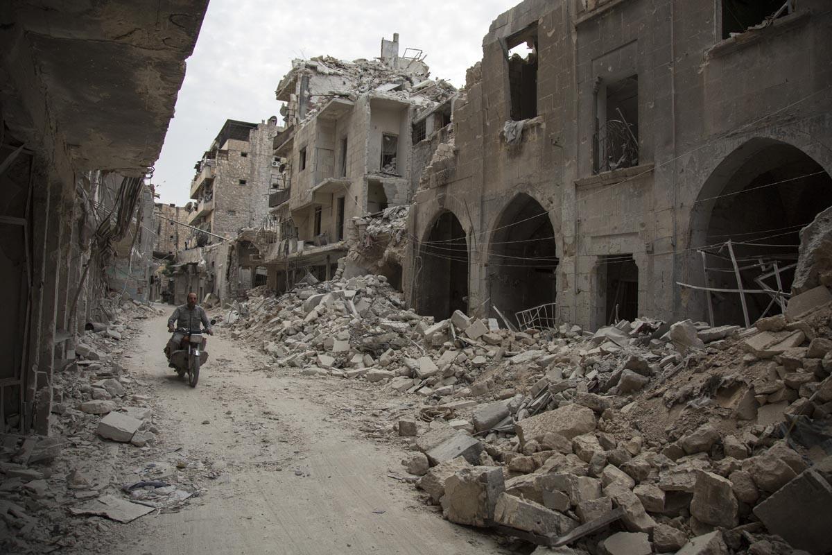 Le quartier de Bab al-Hadid à Alep, en mai 2016 (AFP / Karam Al-masri)