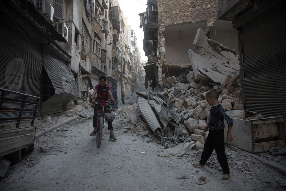 Alep, 18 septembre 2016 (AFP / Karam Al-masri)