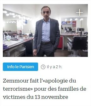 zemmour apologie