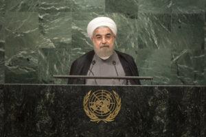 Hassan Rouhani, président de la République Islamique d'Iran, s'adresse à l'Assemblée Générale des Nations Unies le 22 septembre 2016 (UN Photo)