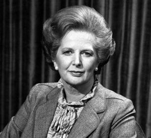 Le Premier ministre britannique Margaret Thatcher