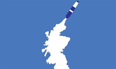 Le secret entourant les accidents d'armes nucléaires anglaises va bien au-delà du black-out américain. Illustration: Noma Bar