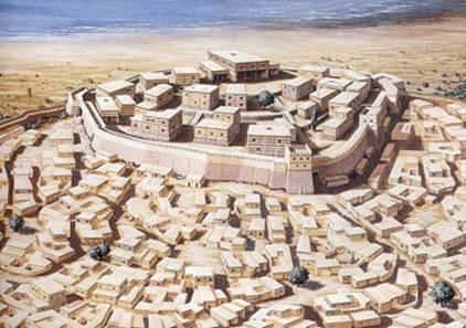 Reconstitution de la ville de Troie entre le VIème et le VIIème siècle.