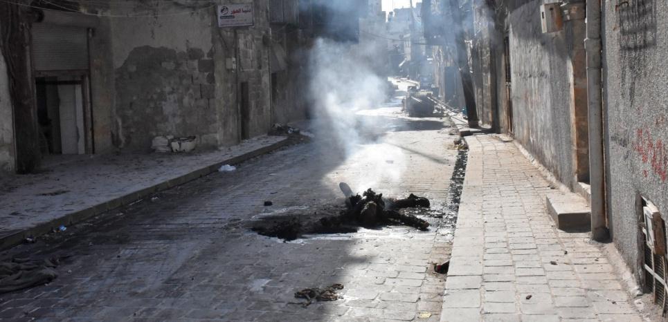 Dans la Vieille ville d'Alep, le 8 décembre 2016. (GEORGE OURFALIAN/AFP)