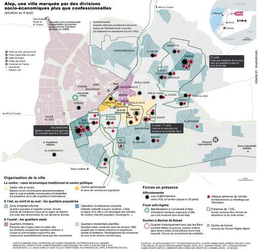 La première carte d'Alep réalisée par Delphine Papin pour Le Monde• Crédits : Avec l'aimable autorisation de Delphine Papin pour Le Monde