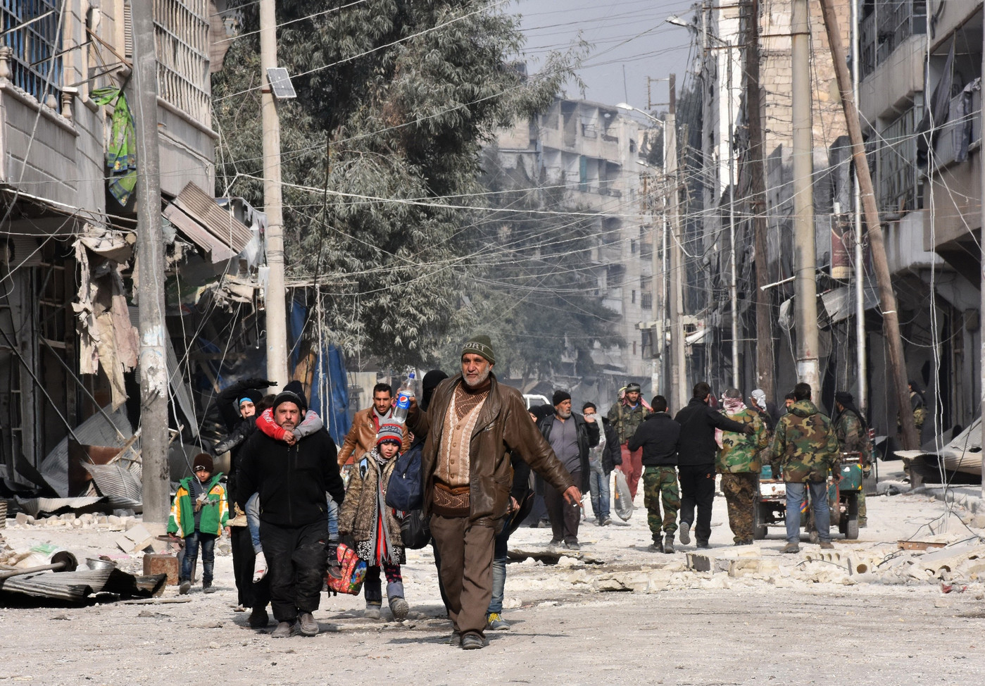 Alep, le 12 décembre. George Ourfalian/AFP