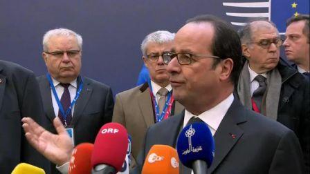 François Hollande après le Conseil européen du 15 décembre et son djihadiste invité
