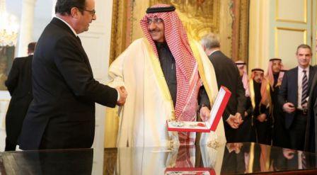 Légion d'Honneur pour le prince héritier saoudien en mars 2016
