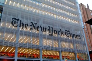 L'immeuble du New York Times à New York. (Photo issue de Wikipedia)