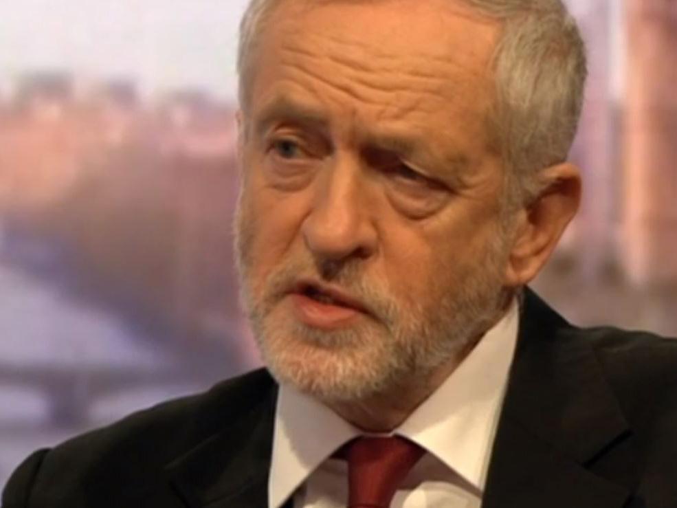 Jeremy Corbyn lors du Andrew Marr show