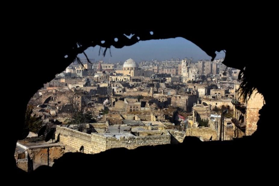 Une vue sur Alep, le 9 décembre 2016. George Ourfalian/AFP