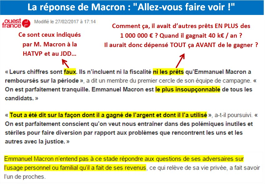 [Patrimoine] Macron a répondu :