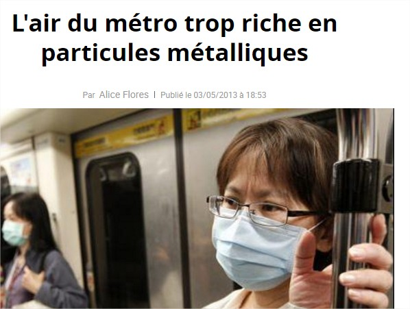 pollution air metro rer