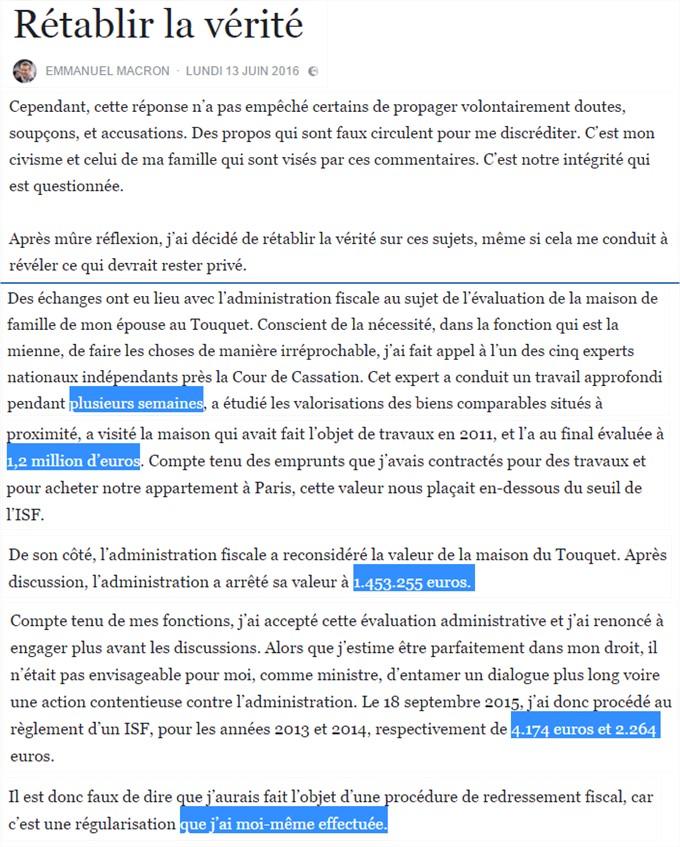 Tiens Et Si On Validait L Etude Macron Avec Son Isf