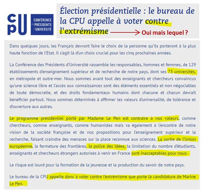 Tout est parti de la Conférence des Présidents d Université qui a rédigé ce  communiqué de presse (archive – les sources sont sauvegardées sur  archive.is)   8a2b162a508