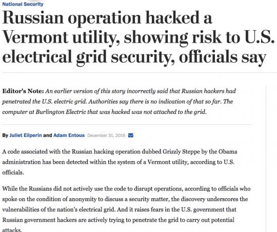 Le Washington Post obligé d'admettre que l'ingérence russe dans les élections US n'a pas existé (The Duran)  5-5