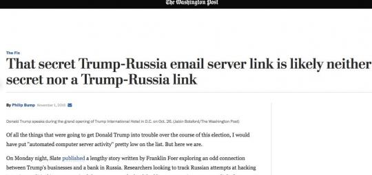 Le Washington Post obligé d'admettre que l'ingérence russe dans les élections US n'a pas existé (The Duran)  8-3