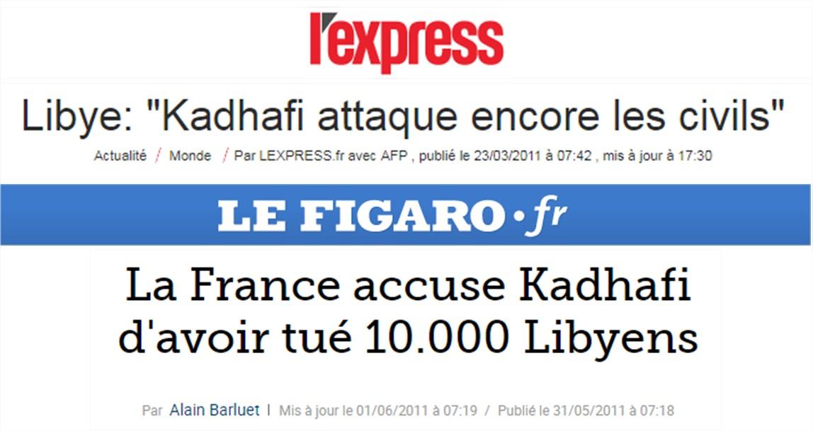 Khadafi presse
