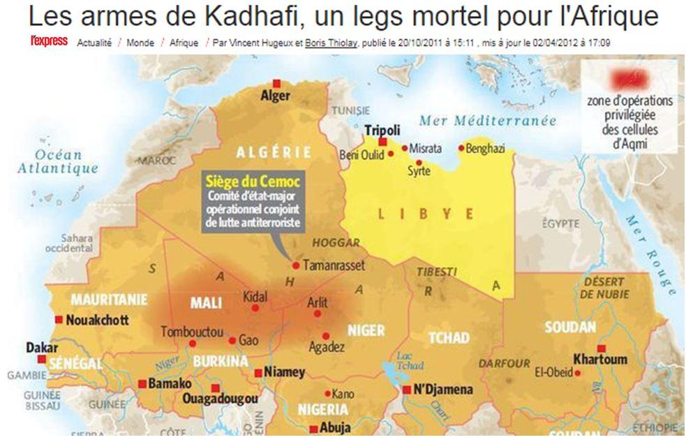 Khadafi les armes