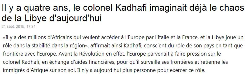 Khadafi les migrants