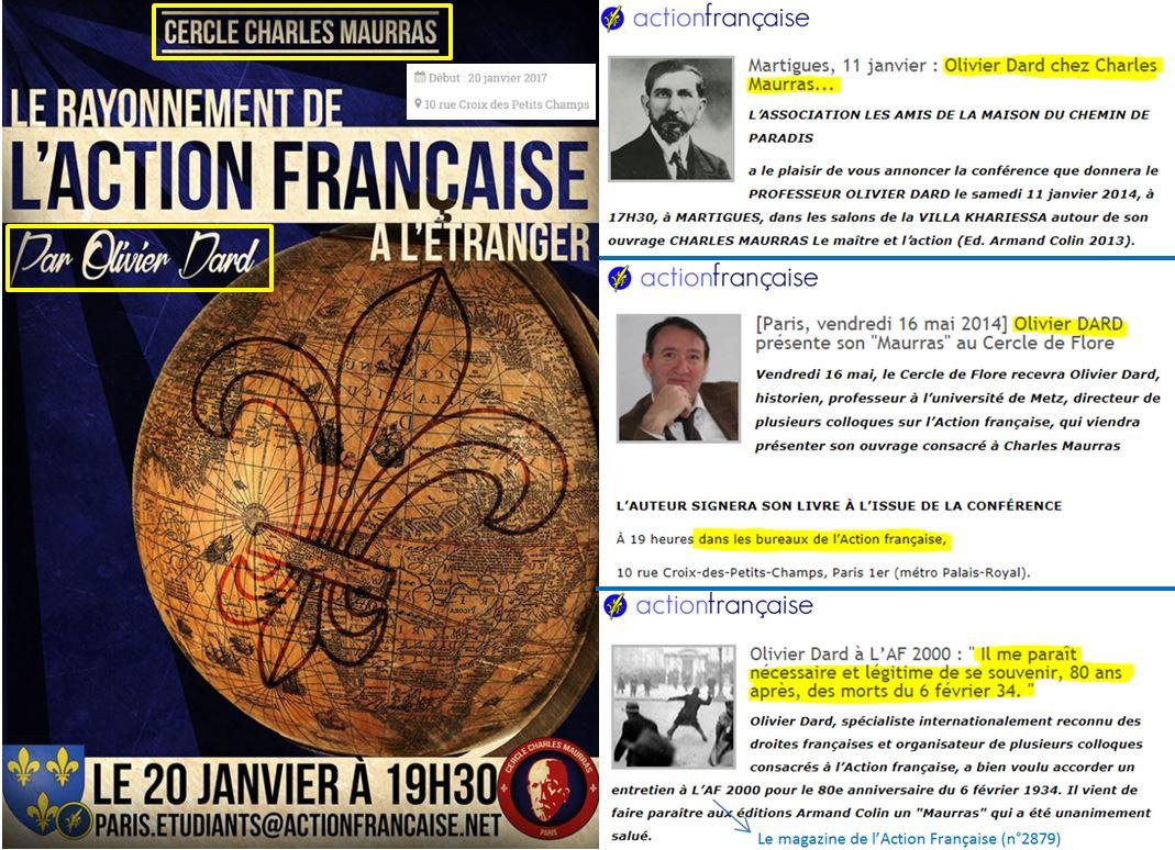 e48a1ffcaa2c31 Polémique Maurras] Le rond de serviette d'Olivier Dard à l'Action ...