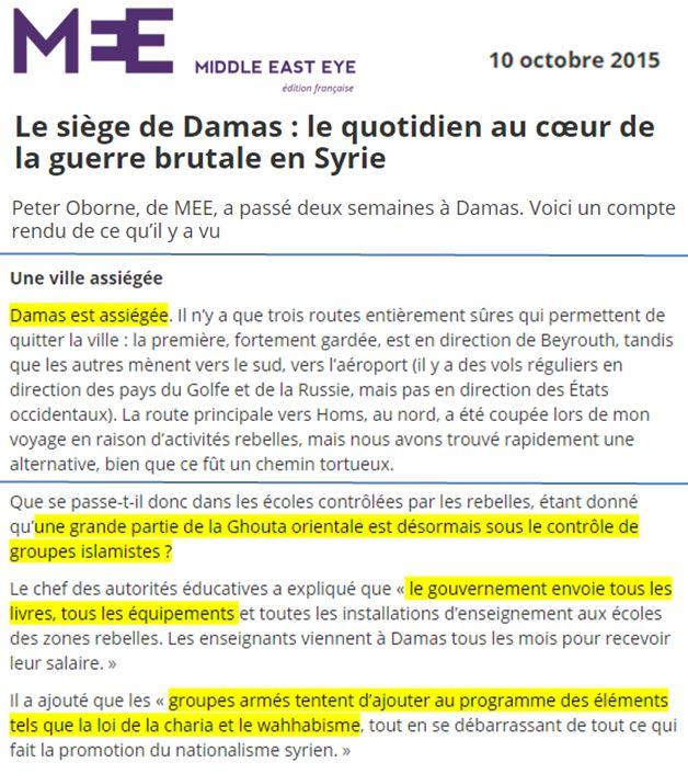 Couverture Mediatique De La Ghouta Ou Comment Faire Le Jeu Des