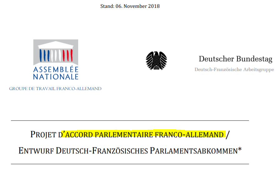 Le Parlement Franco Allemand Ebauche D Une Mini Union Europeenne
