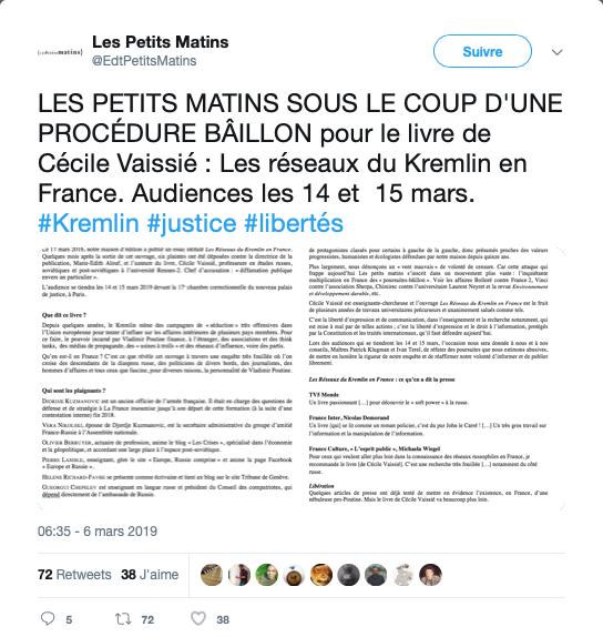 """Procès Vaissié : """"L'Enquête"""" Politis sur la salariée Politis"""